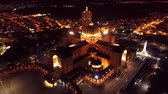 fama : Aerial view of the Shrine of Our Lady of Aparecida, Aparecida, S? O Paulo, Brazil. Patroness of Brazil. Church, temple, religion, faith. Night flight. Beautiful landscape. Great church view!