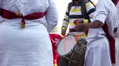 celebração : Indian Drums performance at festival Stock Footage