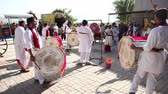 Indian Drums performance at festival Stock Footage