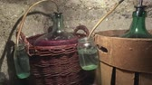 sıra : Old homemade process must fermentation process in wine carboys
