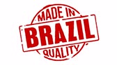 logotipo : Red Rubber Stamp Made In Brazil Stock Footage