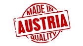 logotipo : Red Rubber Stamp Made In Austria Stock Footage