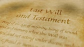 Historic Documents Last Will and Testament