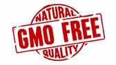logo food : Timbro OGM gratuito Quality Natural Filmati Stock