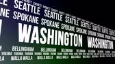 united states : Washington State and Major Cities Scrolling Banner
