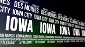iowa : Iowa State and Major Cities Scrolling Banner