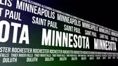 united states : Minnesota State and Major Cities Scrolling Banner