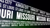 aziz : Missouri State and Major Cities Scrolling Banner Stok Video