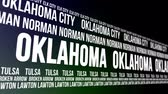 estados unidos : Oklahoma State and Major Cities Scrolling Banner