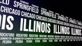 estados unidos : Illinois State and Major Cities Scrolling Banner