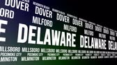 estados unidos : Delaware State and Major Cities Scrolling Banner