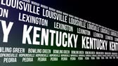 kegeln : Kentucky State und Major Cities Scrolling Banner