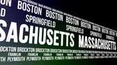marlborough : Massachusetts State and Major Cities Scrolling Banner Stock Footage