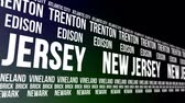tégla : New Jersey State and Major Cities Scrolling Banner