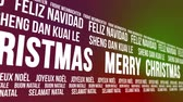 idegen : Merry Christmas Scrolling Different Languages