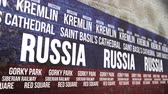 russo : Russia Flag Tourism Attractions Banner