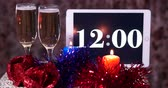 bubble : Champagne on New Years table HD