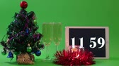 countdown : Christmas Composition Stock Footage