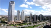 высокий : Istanbul Turkey - October 2018: Timelapse video of Isbank headquarters at Levent Istanbul, Turkey Стоковые видеозаписи