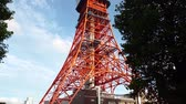 minato : Tokyo, Japan - August 2018: Tokyo Tower is a communications and observation tower located in the Shiba-koen district of Minato, Tokyo, Japan.