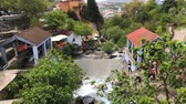 марокканский : Chefchaouen, Morocco - April 2018: Chefchaouen medine panaroma with the river flowing