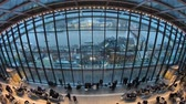 tamigi : London, United Kingdom - January 2019: Timelapse of the Sky Garden in London with tourists and London skyline, London, United Kingdom Filmati Stock