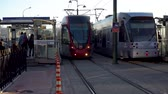 metro : istanbul, Turkey - December 2018: Istanbul light train metro at Karakoy district station with commuters