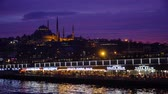 medio oriente : istanbul, Turkey - March 2019: Suleymaniye Mosque during sunset in Eminonu district