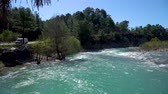 turkije : Koprucay river famous with rafting activities flowing in the outskirts of Antalya province, Turkey Stockvideo