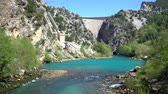 manavgat : Oymapinar, Turkey - March 2019: Green Canyon in Oymapinar Dam area, Antalya, Turkey