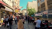 egypťan : Istanbul, Turkey - July 2019: People shopping in Eminonu district, the old city of istanbul near spice bazaar Dostupné videozáznamy