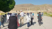 Persapolis, Iran - May 2019: Ruins of historical city of Persapolis in Shiraz Wideo