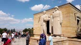anitkabir : Ankara, Turkey - August 2019: Turkish people in Anitkabir mausoleum of Mustafa Kemal Ataturk walking along Road of Lions