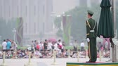 kurtuluş :  National Flag Guard in Tiananmen square at daytime, HD.