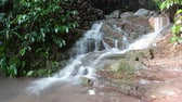 scour : Timelapse view of the brook in Mount Emei, Sichuan province, China at daytime. Stock Footage