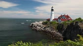 new house : The Portland Headlight Lighthouse in South Portland Maine  Portland Headlight Stock Footage