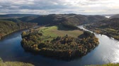 Famous view on Vltava river, Slapy dam, Czech Republic