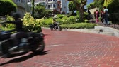 russo : Motorcycles at Lombard Street, San Francisco, USA, 2017