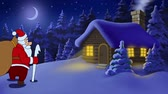 abridor : Merry Christmas animated card with Santa Claus