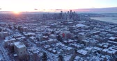 Сиэтл : Seattle Washington Timelapse Winter Snow Sunrise Over City Downtown Aerial Birds Eye View