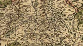 wykres : Pan, Zoom out, then back in on vintage map of Saxony, from small villages to entire area  by Abraham Ortelius, circa 1570