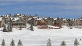 konak : Winter, large houses overlook snowy field   above the Vail Valley, Colorado. Stok Video