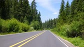 oregon : JOHN DAY, OREGON - JUN 22, 2018 -  Timelapse of traffic through conifer forest of eastern Oregon on highway US-395 between  Burns and John Day Oregon Stock Footage