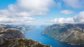 abismo : Aerial view of the Lysefjord in Norway in summer