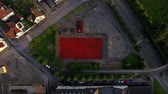 street view : Top view of the stadium in residential district of Stavanger, Norway