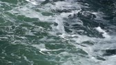 com sombra : waves with shades of green Stock Footage
