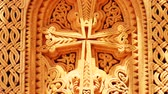 inspirar : Religous Cross Stone Carving. A great piece of stock in 4k definition, perfect for film, tv, documentaries, reality TV, trailers, infomercials and more!