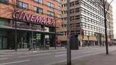 kino : BERLIN, GERMANY - FEBRUARY 4, 2018: Berlinale Time Lapse: Traffic At The Berlin International Film Festival Cinema Near Potsdamer Platz