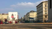 patelnia : BERLIN, GERMANY - MARCH 25, 2018: Traffic At Metro Station Kleistpark Crossroad In The Inner City of Berlin, Time Lapse Pan Shot