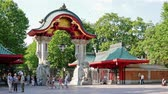 attractie : BERLIJN, DUITSLAND - JULI 20, 2018: The Elephant Gate, Entrance To Berlin Zoological Garden, Zoologischer Garten In Duitse taal, In Berlijn, Duitsland